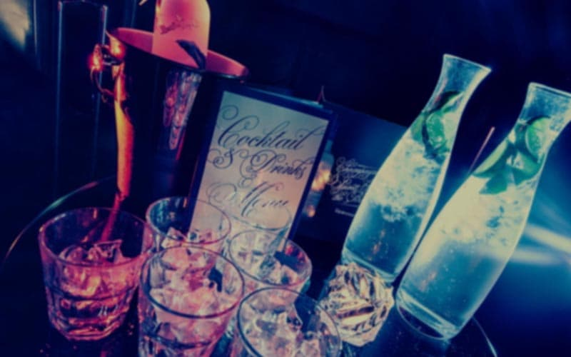 On this picture you see the special drinks of nightclub Slow Barcelona