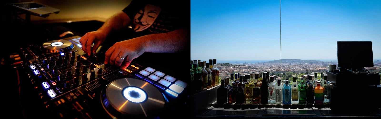 Geniet van het prachtige uitzicht op Barcelona bij Nachtclub Mirablau
