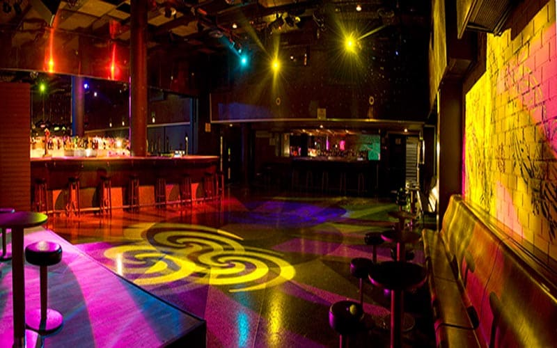 On this picture the inside of club Bikini is shown. Nachtclub Bikini